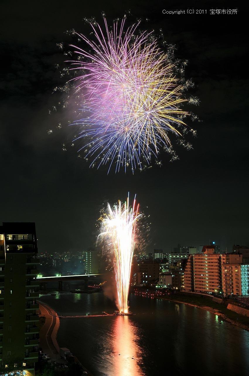 宝塚観光花火大会!_a0218340_11283694.jpg