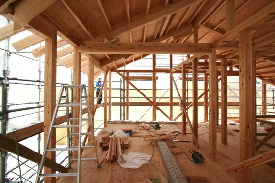 J-パッシブハウス北上:屋根断熱支持垂木、ウッドファイバーファイバー_e0054299_16433833.jpg