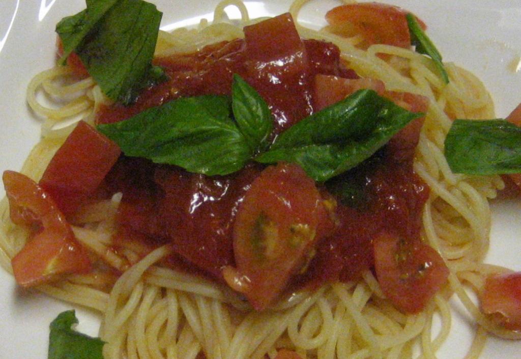 冷製トマトパスタの味の変化_d0031682_7572281.jpg