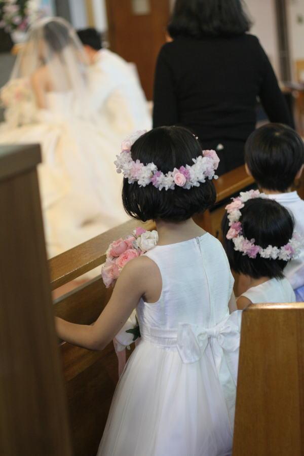 教会での挙式装花 しゃぼんだま カトリック豊島教会様へ_a0042928_1992634.jpg