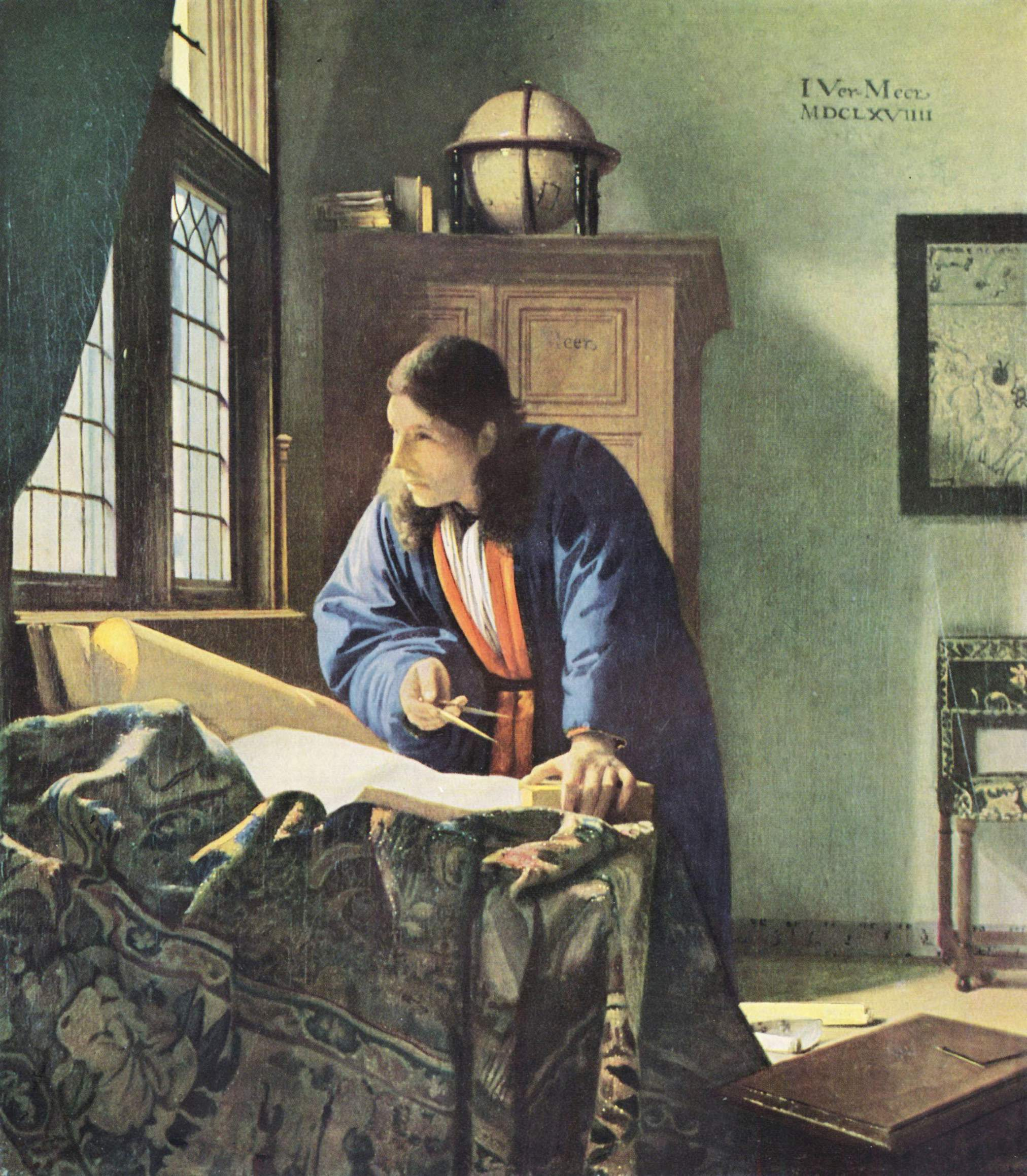 地理学者 制作年代:1669年技法:カンヴァス、油彩サイズ:51.6×4...  風流荘風雅屋