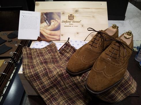 ステファノ・ベーメルのスエード靴_b0226322_1452370.jpg