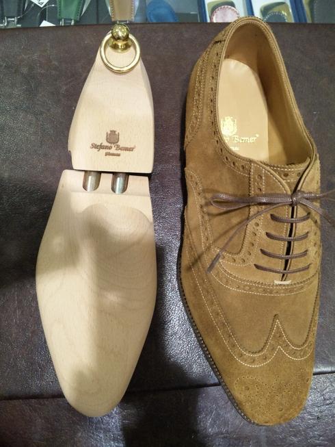 ステファノ・ベーメルのスエード靴_b0226322_1474543.jpg