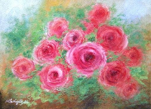 薔薇の薫る家~Cute~薔薇の油絵_b0089338_1024138.jpg