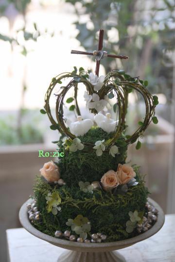 2011.7.25 花嫁さま制作  ウェルカムボードとリングピロー_b0120777_1231118.jpg