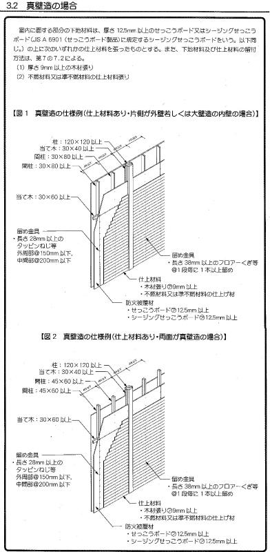 柱・梁桁などムクの木を現しながら「省令準耐火構造」に対応_c0160488_1253534.jpg