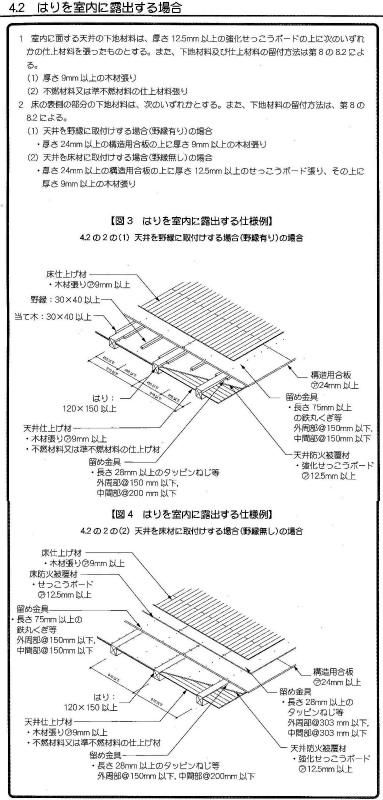 柱・梁桁などムクの木を現しながら「省令準耐火構造」に対応_c0160488_1381543.jpg