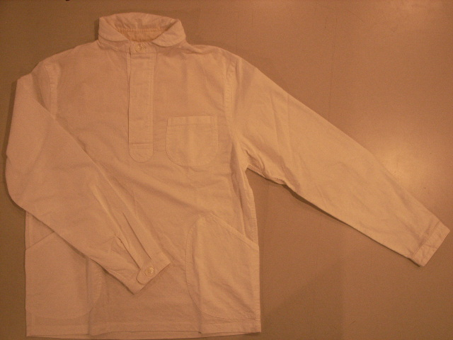 """TheThreeRobbers PULLOVER SHIRTS for men WHITE/ORDER\""ってこんなこと。_c0140560_13174425.jpg"