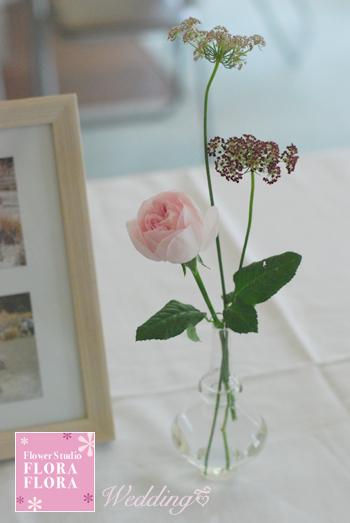 旧古河邸様ウェディング バラの季節のアンティークテイスト会場装花2 レセプションとウェイティングルーム_a0115684_15183281.jpg