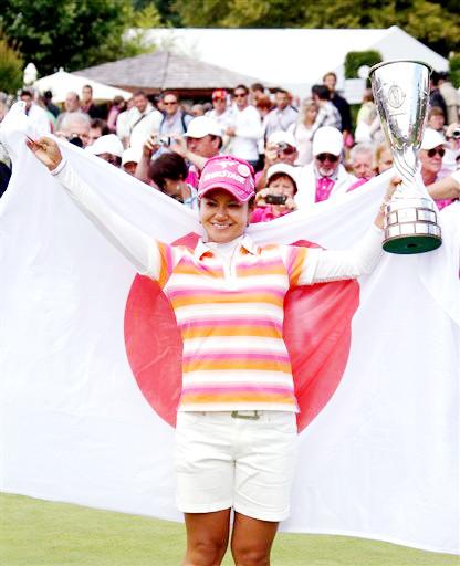 宮里藍さん、米国女子ゴルフツアー今季初優勝で日の丸どーん_b0007805_9585519.jpg