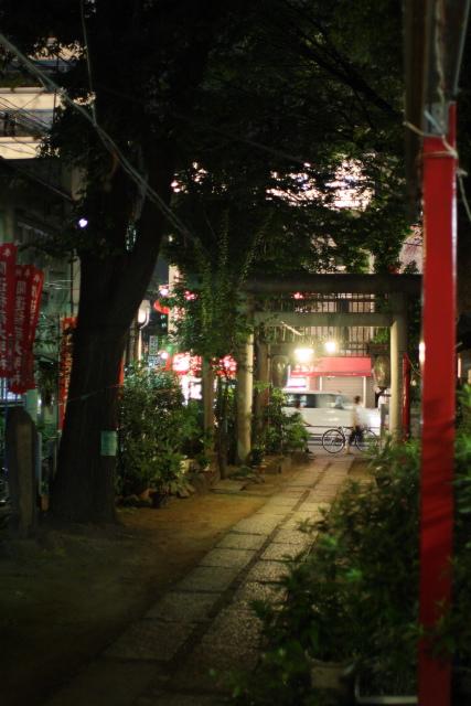新大久保  夜更けの皆中稲荷神社_b0061717_1384438.jpg