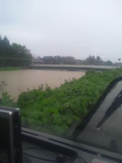 下条川の水量がいっぱいいっぱいです。_b0130512_864656.jpg