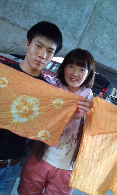 作品ご紹介☆紅花染め。2_c0164227_18552956.jpg