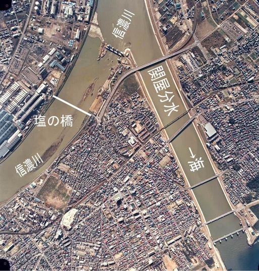 新潟市の信濃川に木造の塩の橋が架かっていた・・・・・_d0178448_17592041.jpg