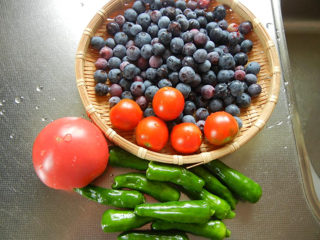 2011年7月30日(土)今日の収穫とピザ!_f0060461_14545787.jpg