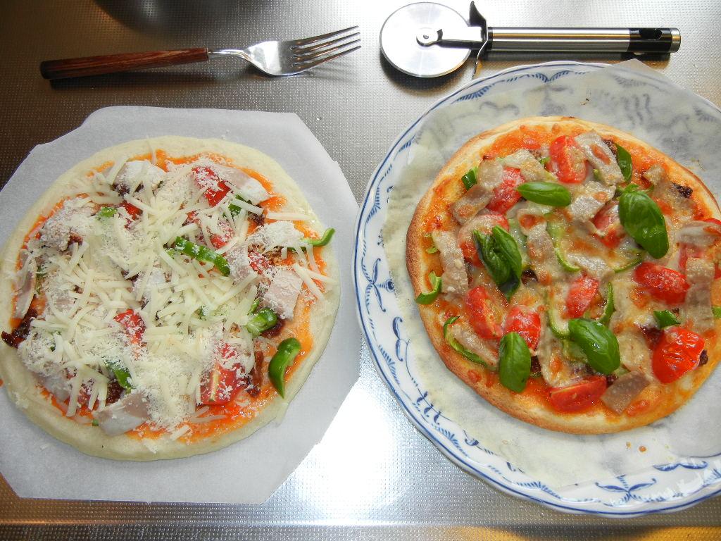 2011年7月30日(土)今日の収穫とピザ!_f0060461_14553450.jpg