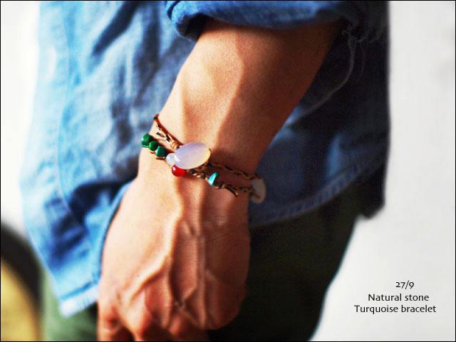 27/9 Natural stone Turquoise bracelet [天然石ターコイズブレスレット] MEN\'S_f0051306_16594139.jpg