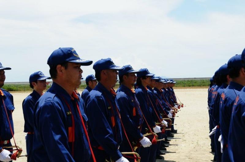 佐賀県消防操法大会で、武雄市消防団ラッパ隊は、_d0047811_22251543.jpg