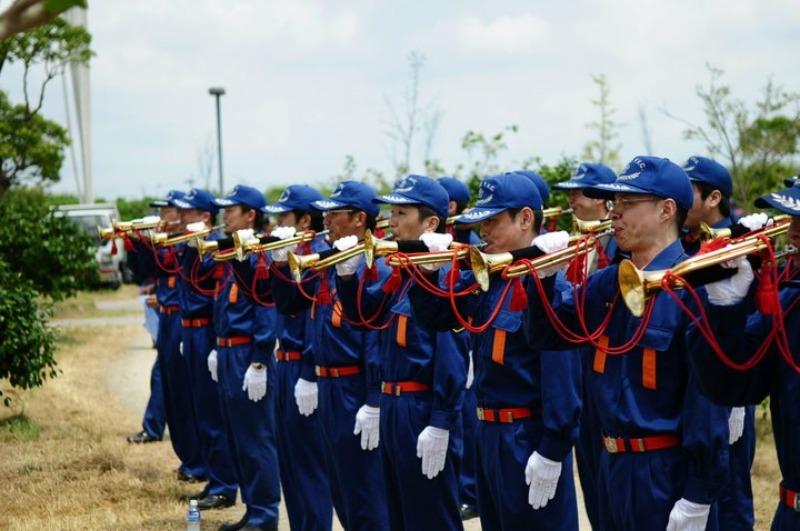 佐賀県消防操法大会で、武雄市消防団ラッパ隊は、_d0047811_22251995.jpg