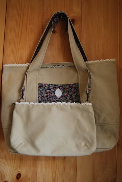 帆布&リバティでbag  & mini  bag_d0127925_10524072.jpg