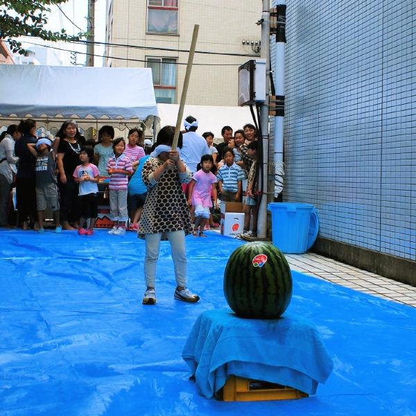 2011.7.31 スイカ割り @浅草橋_f0230666_12464241.jpg