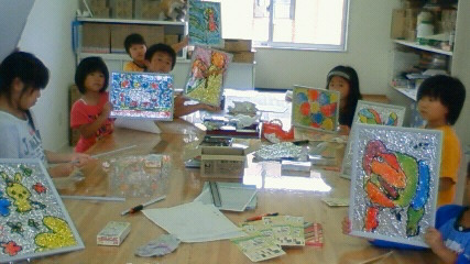 夏休み工作教室 ステンドカラー_b0187423_133764.jpg