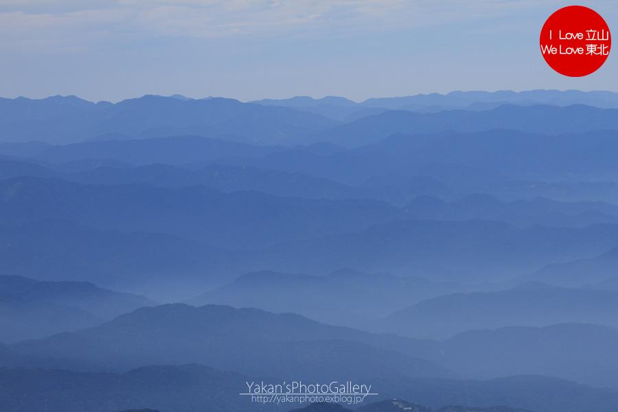 立山連峰山荘めぐり&立山縦走2011 18 別山より望む剱御前岳と、富山の山々_b0157849_10592.jpg