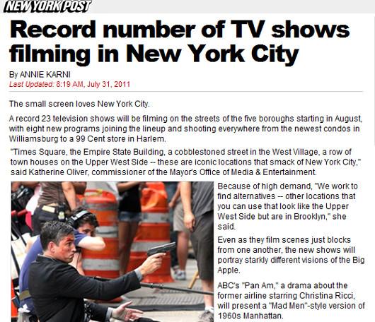 8月にニューヨークでロケをするTVドラマ作品数、史上最高記録を更新!!!_b0007805_0373624.jpg