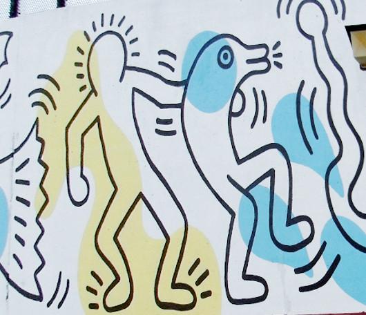 ニューヨークの市民プールはキース・へリングさんの巨大壁画つき_b0007805_10374486.jpg