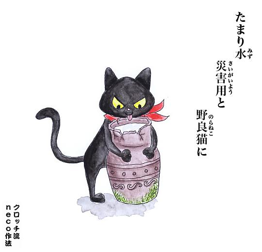 たまり水 災害用と 野良猫に_f0193056_1741391.jpg