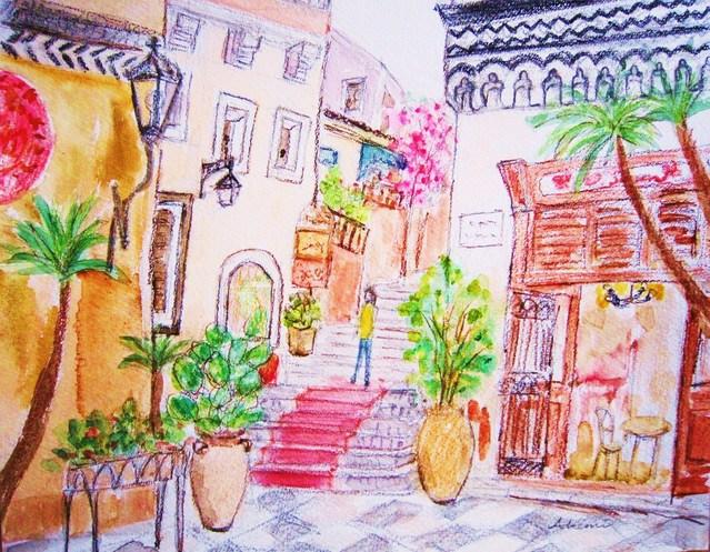 148. タオルミーナの街角(シチリア島)_e0233674_18373765.jpg