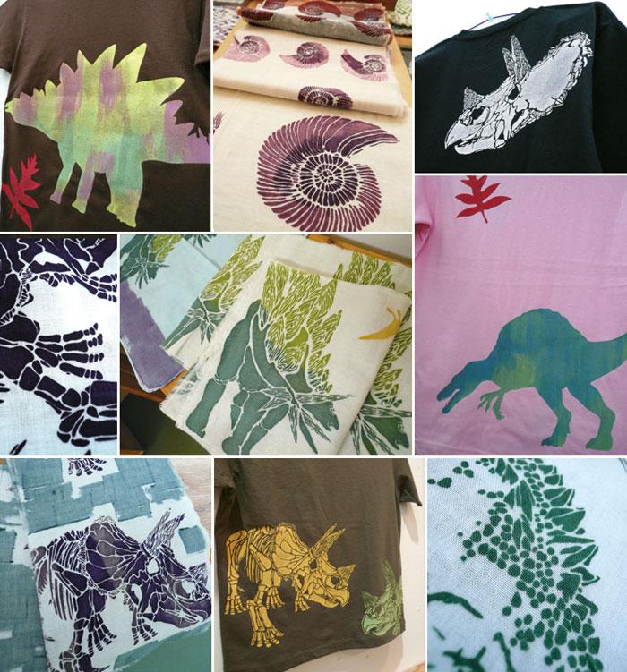 「K博士の恐竜発掘記録~染色作品展」あと2日!オーダーもできますよ_a0017350_7114866.jpg