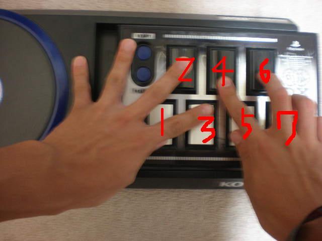 左からS:左小指1:左親指2:左中指3:左人差し指4:右人差し指5:右親... 禁酸&音