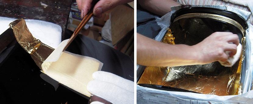 厨子 蒔絵と箔押し 2011.08.06_c0213599_0402136.jpg