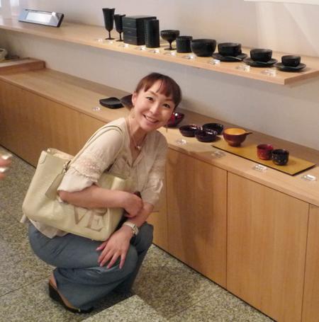 ショップチャンネルのキャスト、長谷川香子さんがご来店くださいました!_c0145608_1355692.jpg
