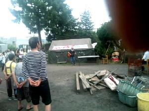気仙沼に「たかとり救援基地」みたいな「救援テント村」ができていた! #472_e0068533_1937114.jpg