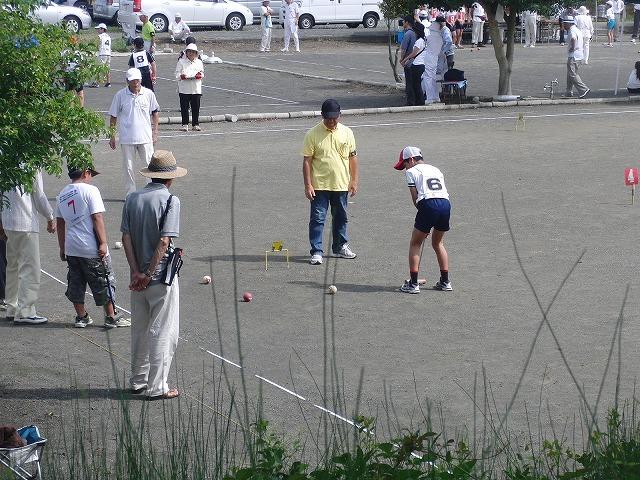 「目指せ!なでしこジャパン」 暑い中でのジュニアゲートボール大会_f0141310_7142744.jpg