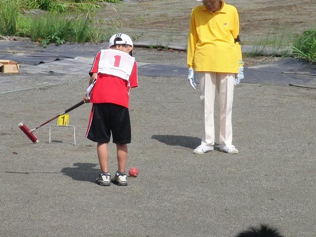 「目指せ!なでしこジャパン」 暑い中でのジュニアゲートボール大会_f0141310_7143424.jpg