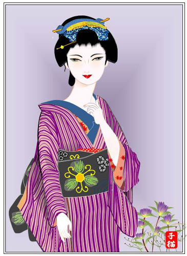 wordで美人画、カノコユリ_f0030085_20502411.jpg