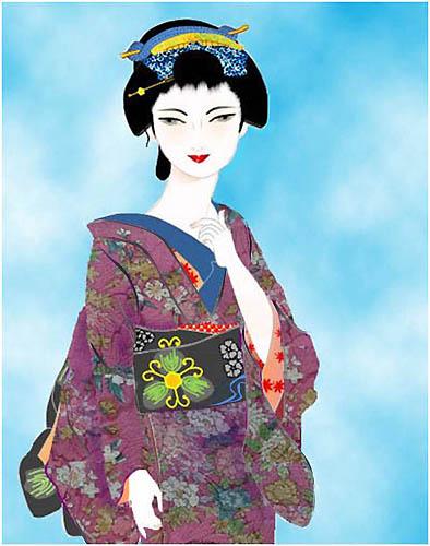 wordで美人画、カノコユリ_f0030085_20534240.jpg