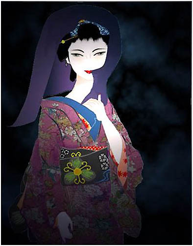 wordで美人画、カノコユリ_f0030085_20553781.jpg