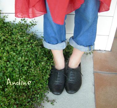 Andine パンチングレザーレースアップシューズ_a0130646_1715183.jpg