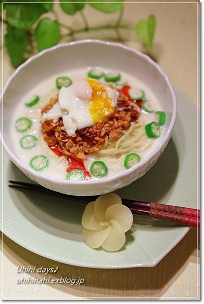 冷やし豆乳坦々麺_f0179404_21637100.jpg