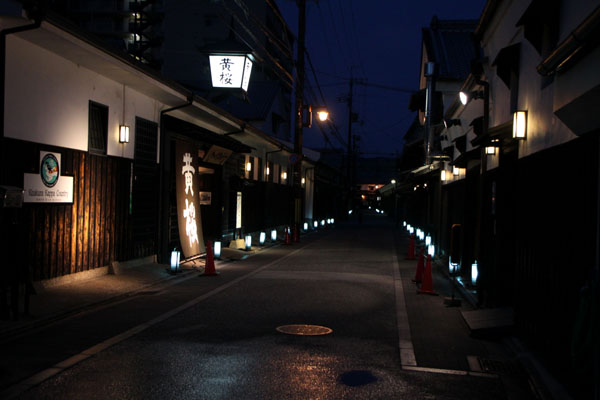 夏景色3 伏見酒蔵の町 ライトアップ_e0048413_19482493.jpg