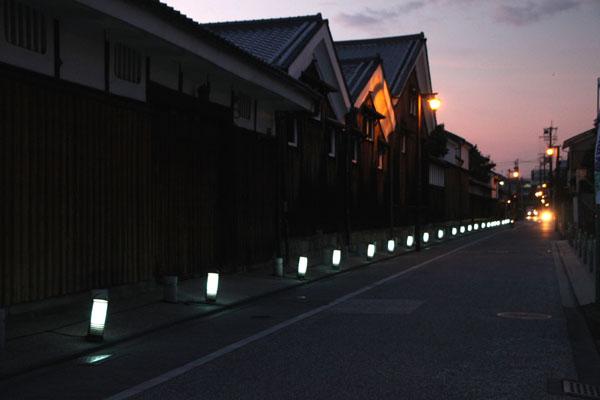 夏景色3 伏見酒蔵の町 ライトアップ_e0048413_1948349.jpg
