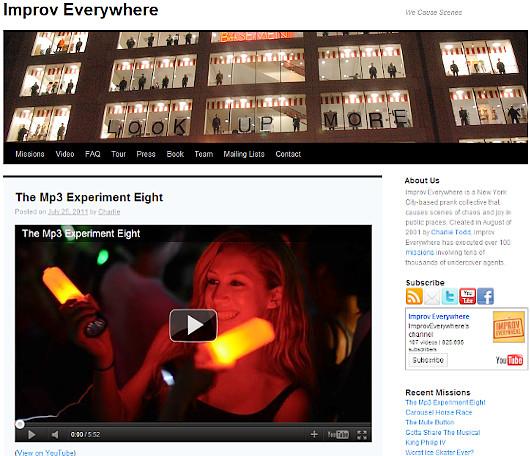 ますます人気のニューヨークのどこでも即興集団、Improv Everywhere_b0007805_15164518.jpg
