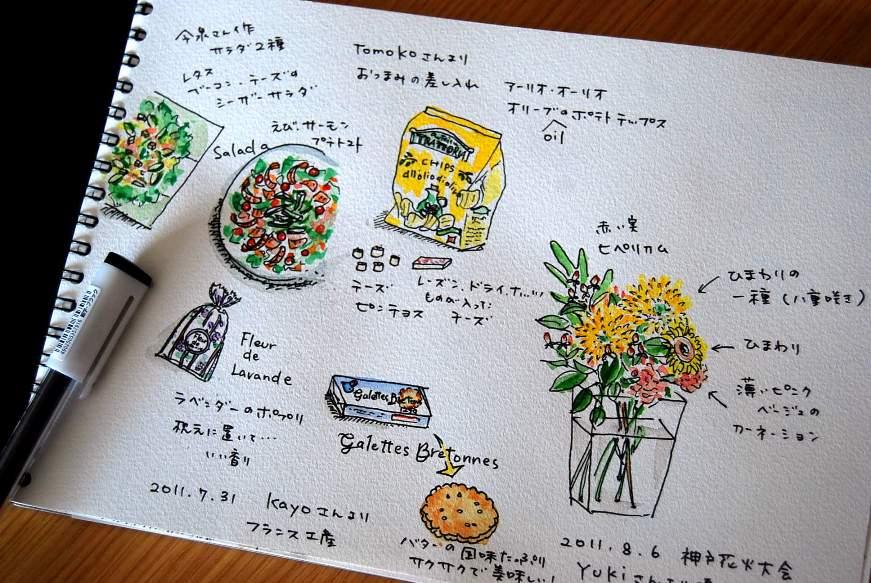 絵日記。花やポジャギも_b0165872_11184857.jpg