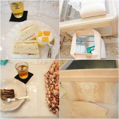 カルトナージュ お茶箱 5キロを作成_e0236480_223823.jpg