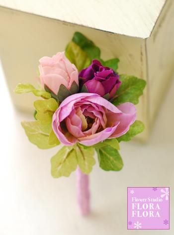 ピンクのバラとクリスタル*プリザーブドフラワー きらきらラウンドブーケ_a0115684_9405671.jpg