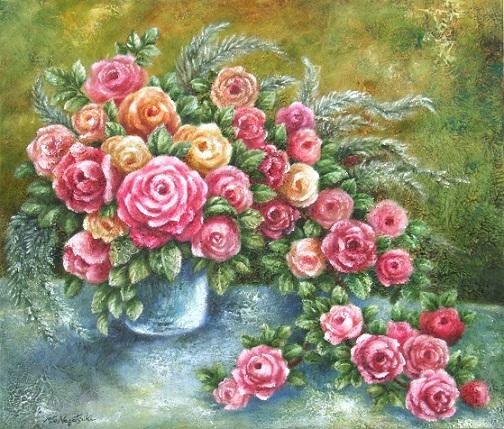 薔薇の油絵 10号_b0089338_22171241.jpg